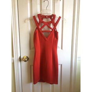 Tobi Red Stencil Me In Dress XS